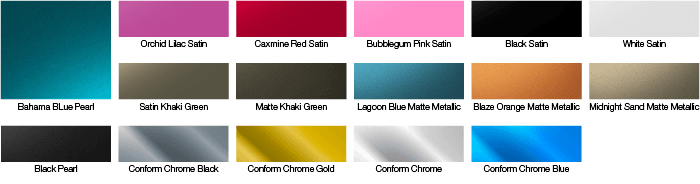 Available Avery Colors